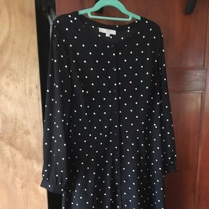 LOFT PLUS POLKA DOT FLARE SHIRTDRESS  size 16